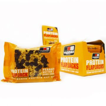 Vyomax® Protein Flapjacks Peanut Butter & Choc Chip (Box of 12)